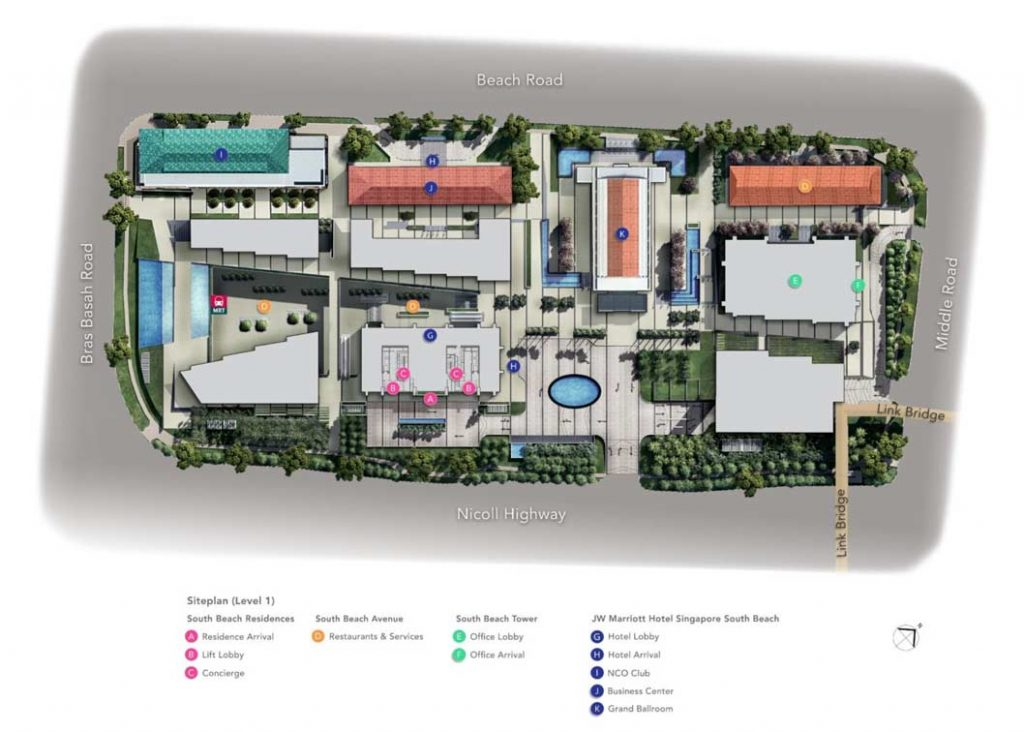 south beach residences site plan